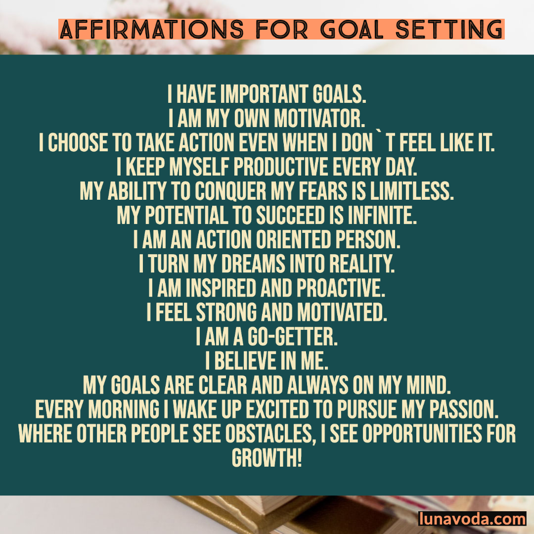 Affirmations for Goal Setting (Plus Free Audio Recording)