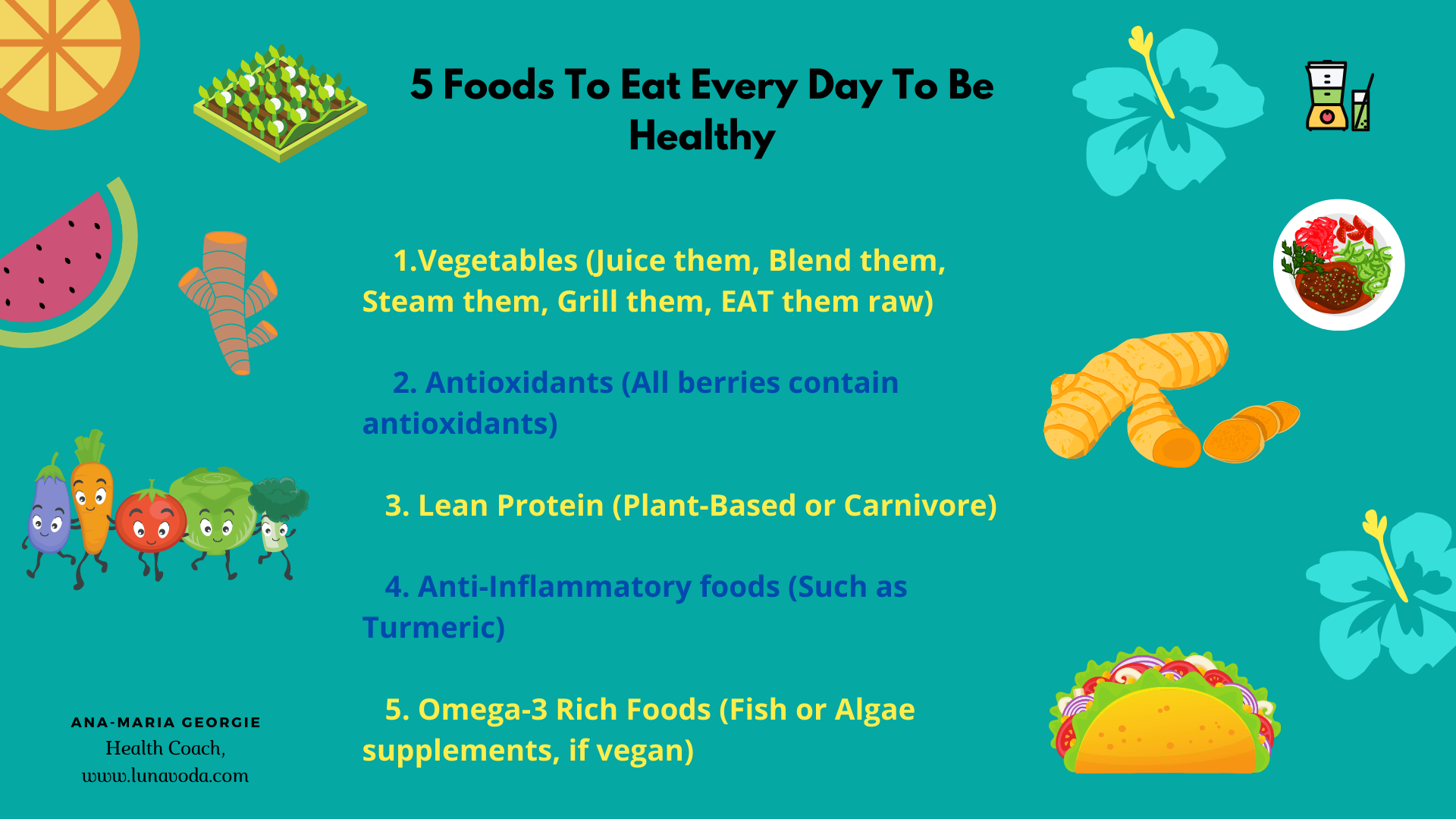 5 Foods To Eat Every Day To Be Healthy